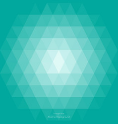 abstract light green mint triangle background vector image