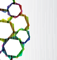 Abstract set colorful hexagons background vector