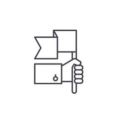 Advantage line icon concept advantage vector