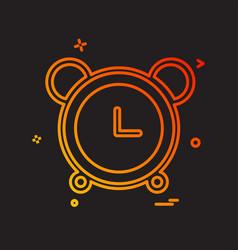 alarm clock icon design vector image