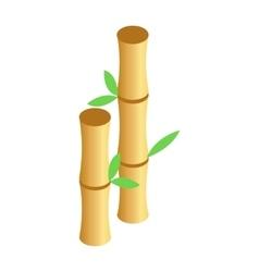 Bamboo sticks isometric 3d icon vector