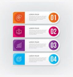 Banner steps business infographic template vector
