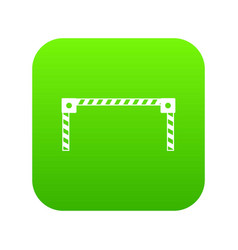 barrier icon digital green vector image