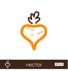 Beet outline icon vegetable vector
