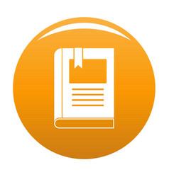 Bookstore icon orange vector