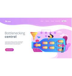 Bottleneck analysis concept landing page vector