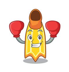 Boxing swim fin character cartoon vector