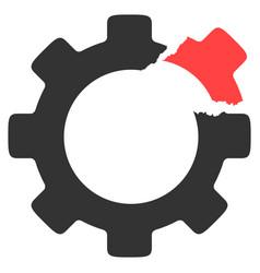 broken gear icon vector image