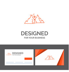 business logo template for mountain landscape vector image