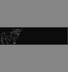Butcher shop blackboard cut beef meat vector