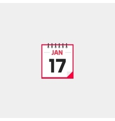 Calendar icon isolated on gray background vector image vector image