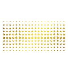 Cannabis gold halftone array vector