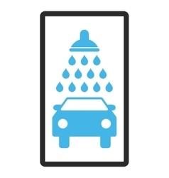 Car Shower Framed Icon vector