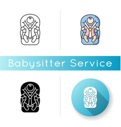 child transportation icon baby in carseat drive vector image
