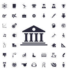 Court building icon vector