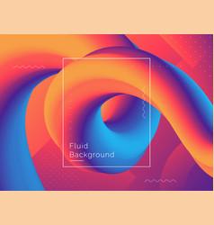 creative design 3d flow shape vector image