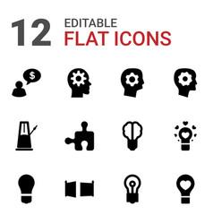 Creativity icons vector