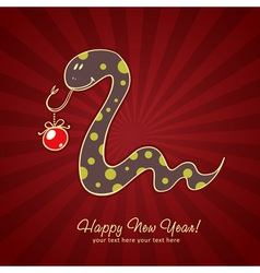 Cute New Year chinese black snake vector