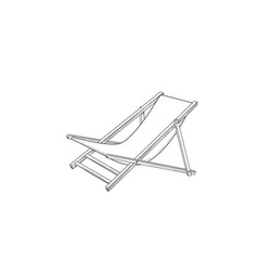 deckchair outline drawing deck chair sketch vector image