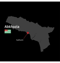 Detailed map of Abkhazia and capital city Sukhumi vector image