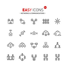 Easy icons 06a networks vector