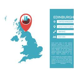 edinburgh map infographic vector image