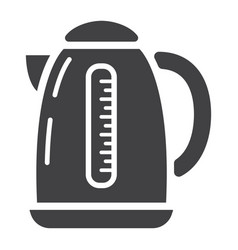 Electric kettle solid icon kitchen and appliance vector