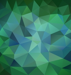 emerald green blue polygon triangular pattern vector image