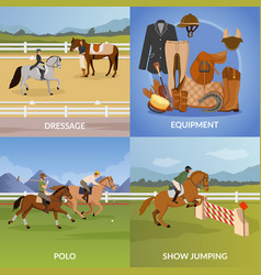 Equestrian sport design concept vector