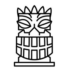 exotic idol icon outline style vector image