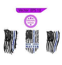 Flag usa america symbol white n vector