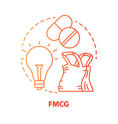 Fmcg red concept icon fast moving consumer goods vector