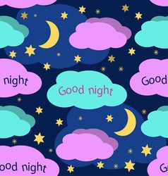 Good Night seamless pattern vector image