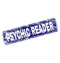 Grunge psychic reader framed rounded rectangle vector