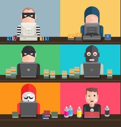 Hacker types vector