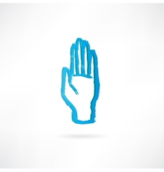 hand with an open palm icon vector image
