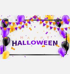 Happy halloween carnival background orange purple vector