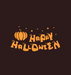 Happy halloween logo flat simple vector