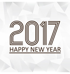 Happy new year 2017 on wrinkled paper low polygon vector