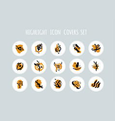 Highlight story icons set abstract vector