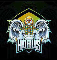 Horus esport mascot logo design vector