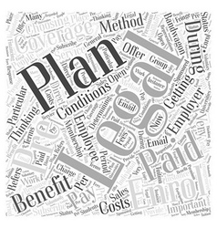 How to enrol for a legal plan Word Cloud Concept vector image