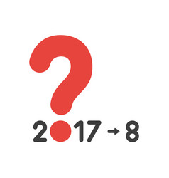 icon concept of year of 2017 with question mark vector image