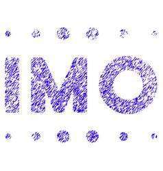 Imo caption icon grunge watermark vector