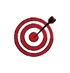 Isolated target dartboard vector