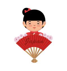 japanese culture beautiful geisha vector image