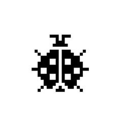 Ladybug pixel icon animal vector