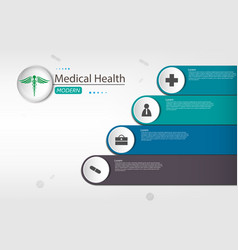medical concept on paper design infographic vector image