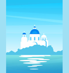 nature landscape greek with view on coast vector image