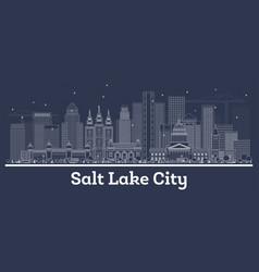 Outline salt lake city utah city skyline vector